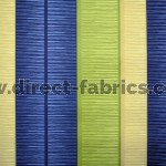 +Tango Stripe 120 Blue Green Fire Resistant Curtains