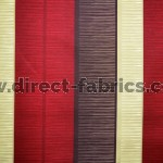 +Tango Stripe 480 Red Beige Fire Resistant Curtains