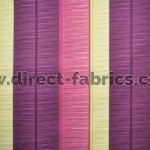 +Tango Stripe 681 Mulberry Linen Fire Resistant Curtains
