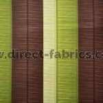 Tango Stripe 273 Lime Brown Fire Resistant roman blinds