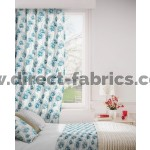 Tiffany 179 Blue Cream Curtains Room Shot Mock up
