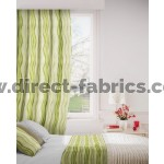 Twist 237 Lime Flax Curtains Room Shot Mock up