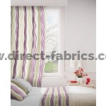 Twist 681 Mulberry Linen Curtains Room Shot Mock up