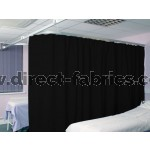 Washable Cubicle Curtains Black
