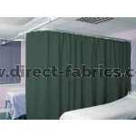 Washable Cubicle Curtains Bottle Green