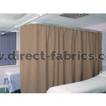 Washable Cubicle Curtains Brown