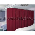 Washable Cubicle Curtains Claret