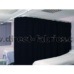 Washable Cubicle Curtains Dark Blue
