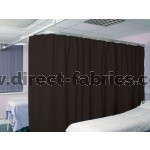 Washable Cubicle Curtains Espresso