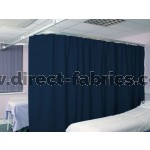 Washable Cubicle Curtains Inkt Blue