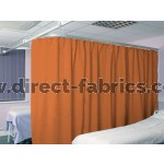 Washable Cubicle Curtains Orange
