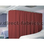 Washable Cubicle Curtains Ruby