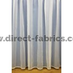 White flame retardant voile curtains