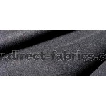 Black Wool Serge Curtains - Flame Retardant