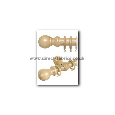 150cm28mm County Wood Curtain Pole Set  Light Ash