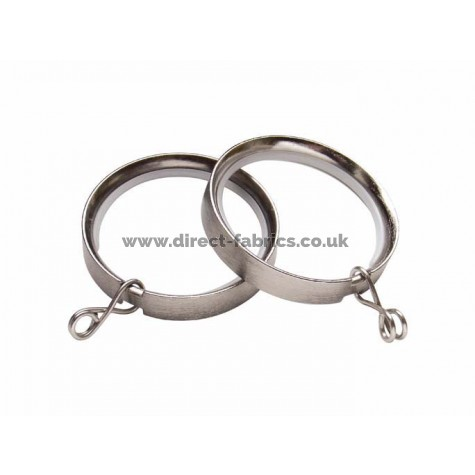 35mm Lined Rings Pk8 Satin Silver