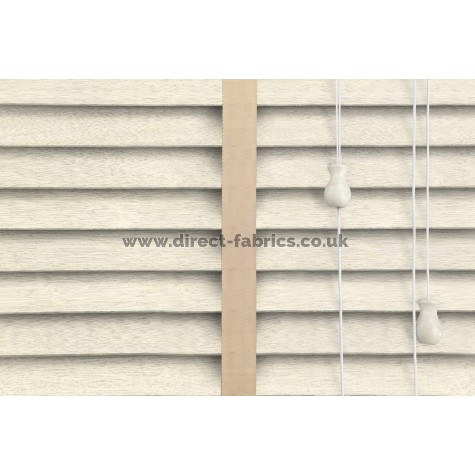 Venetian Blinds Wood Cream Embossed Malt Ladder Tape