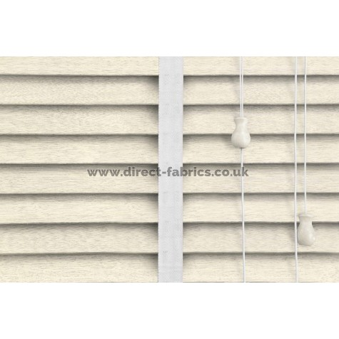Venetian Blinds Wood Cream Embossed Snow Ladder Tape
