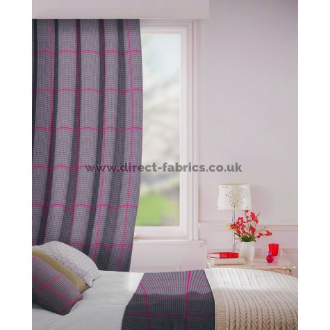 Albury in Charcoal Flame Retardant Curtain