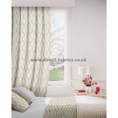 Austen 688 Rose Linen Curtains Room Shot Mock up