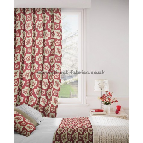 Burley 430 Red Gold Curtains Room Shot Mock up