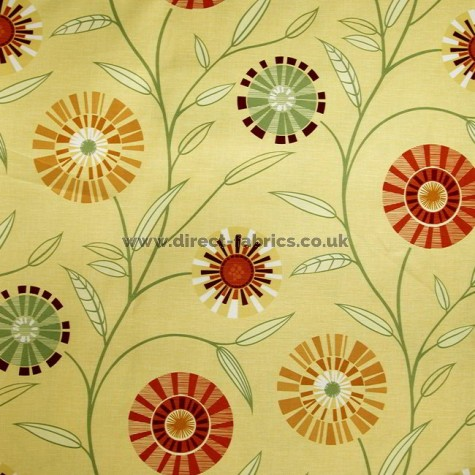 Carnival 348 Gold Henna Fire Resistant roman blinds