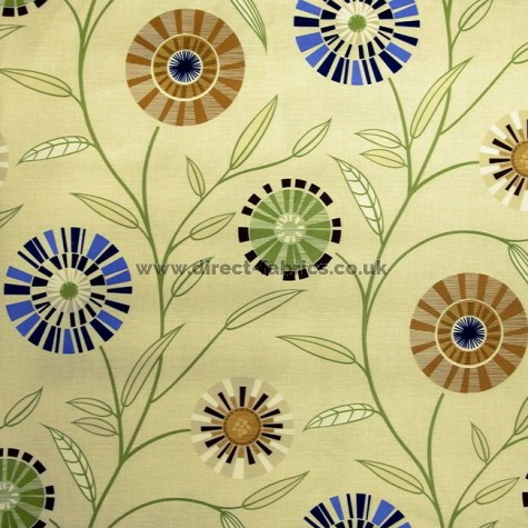 Carnival 831 Cream Gold Fire Resistant roman blinds