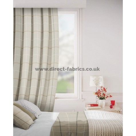 Clevedon in Pebble Flame Retardant Curtain