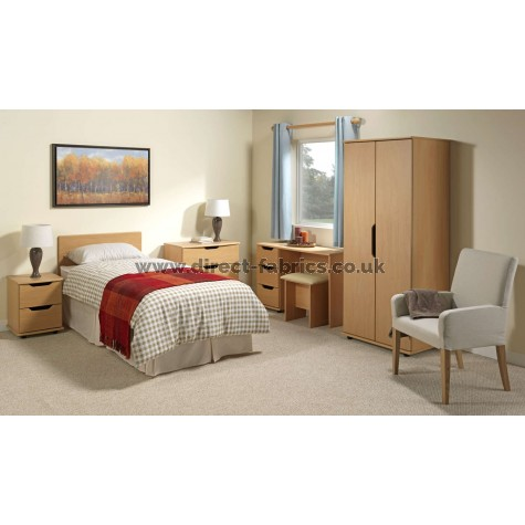 Curvaceous Furniture Set Beech Colour