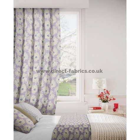 Daisy 114 Lavender Curtains Room Shot Mock up
