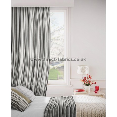 Dandy 950 Black Grey Curtains Room Shot Mock up