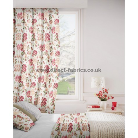 DF Alexandra Cherry Flame Retardant Curtains