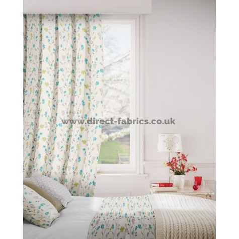 DF Forest Teal Flame Retardant Curtains