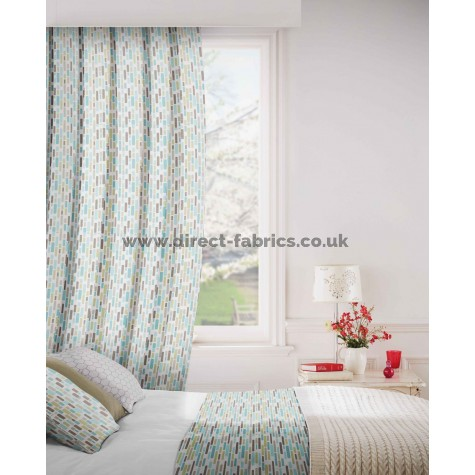 DF Stratosphere Azure Flame Retardant Curtains