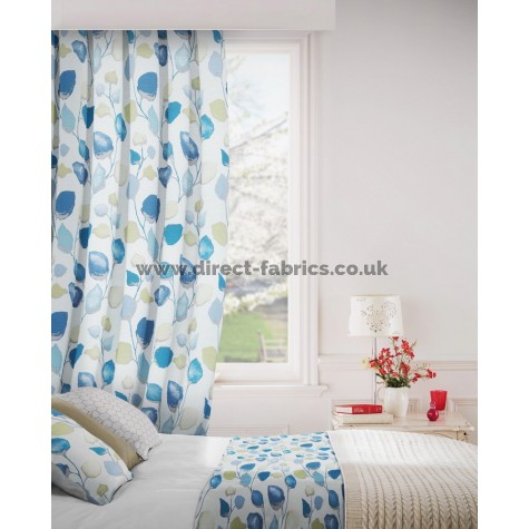 Eden 166 Aqua Lime Curtains Room Shot Mock up