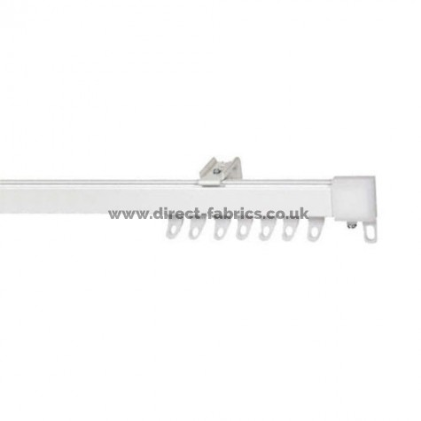 Fineline Heavy Weight Curtain Track - Bendable for Bay Windows Metal  Curtain Track White - Cut Down Kit