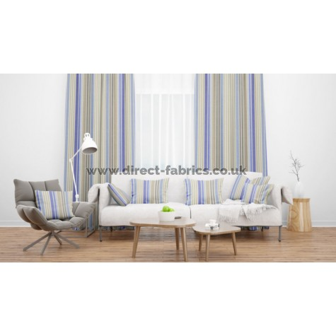 Lakeside Hawkshead Cornflower Flame Retardant Curtains