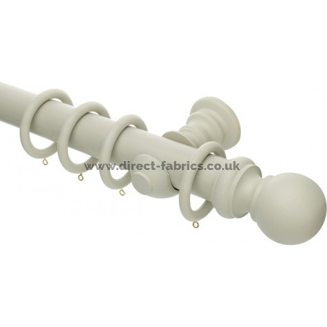 Honister 50mm Wood Curtain Pole Set French Grey