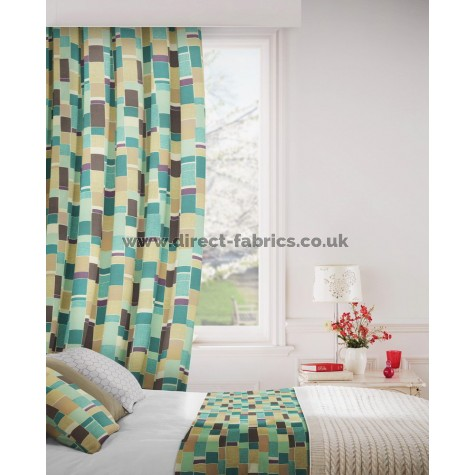 Jitterbug 713 Mink Duck Egg Curtains Room Shot Mock up