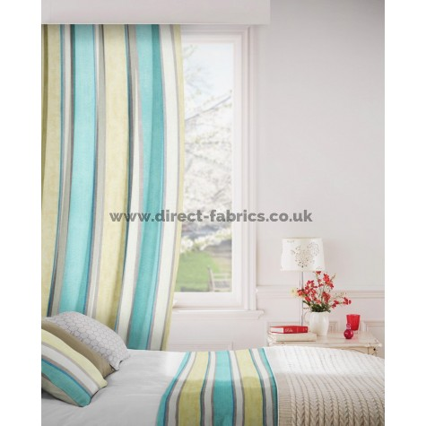 Midsummer 155 Duck Egg Blue Curtains Room Shot Mock up