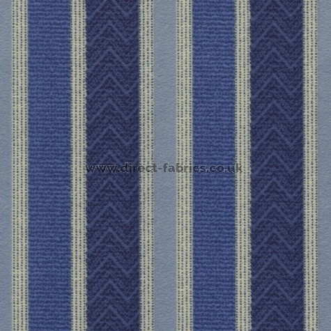 Nobel Stripe 100 Blue Fire Resistant roman blinds