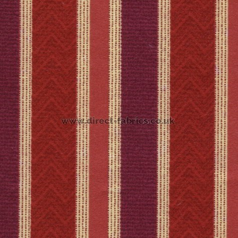 Nobel Stripe 615 Berry Fire Resistant roman blinds