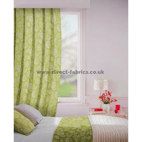 Parnell in Fern Flame Retardant Curtain