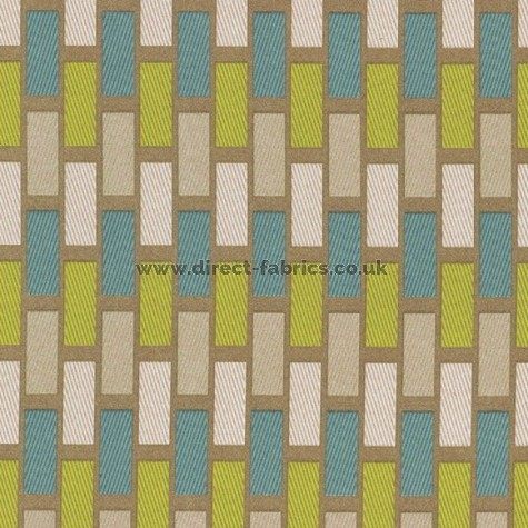 Plaza 289 Teal Latte Fire Resistant roman blinds