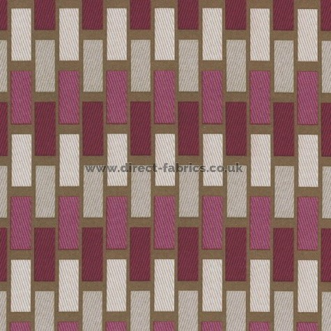 Plaza 457 Raspberry Chocolate Fire Resistant roman blinds