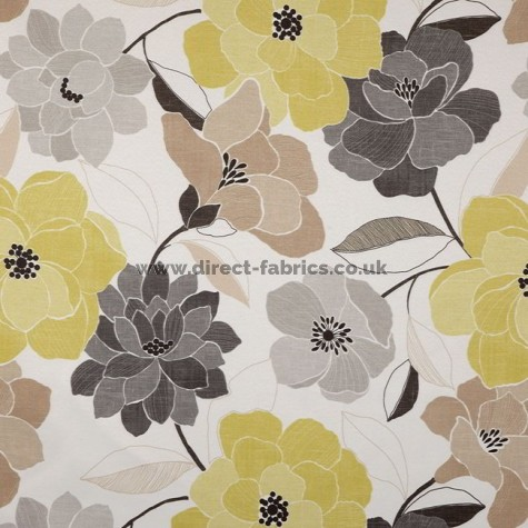 Poetry 391 Lemon Silver Fire Resistant roman blinds