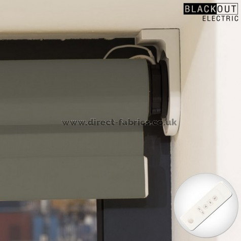 Utopia Flame Retardant Blackout  Battery Operated Blind in Slate