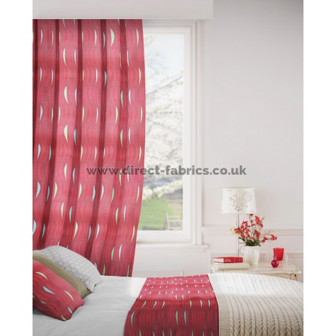 Salsa 400 Red Curtains Room Shot Mock up