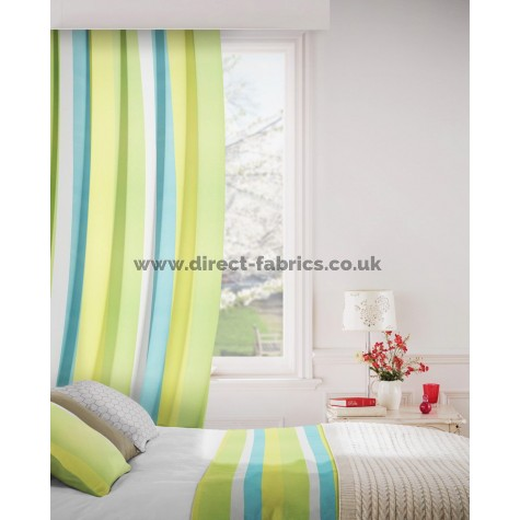 Sierra 171 Turquoise Lime Curtains Room Shot Mock up