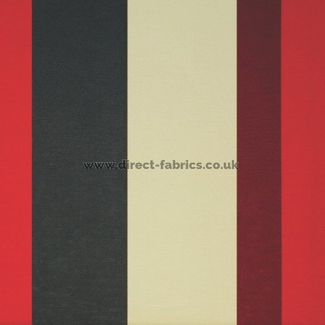 Sierra 453 Red Charcoal Fire Resistant roman blinds